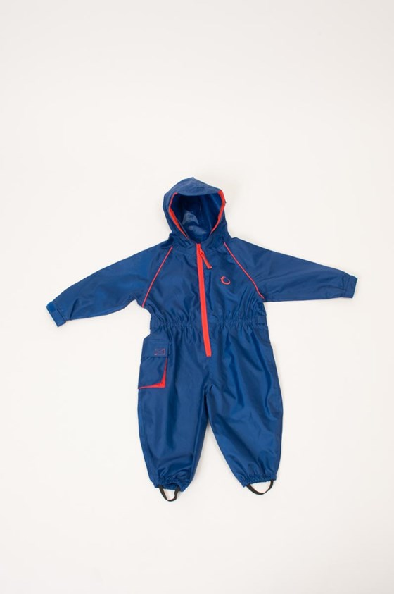 Hippychick Waterproofs - Fleece Lined All in One Suit Blue