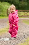 Hippychick Waterproofs - Fleece Lined All in One Suits Pink