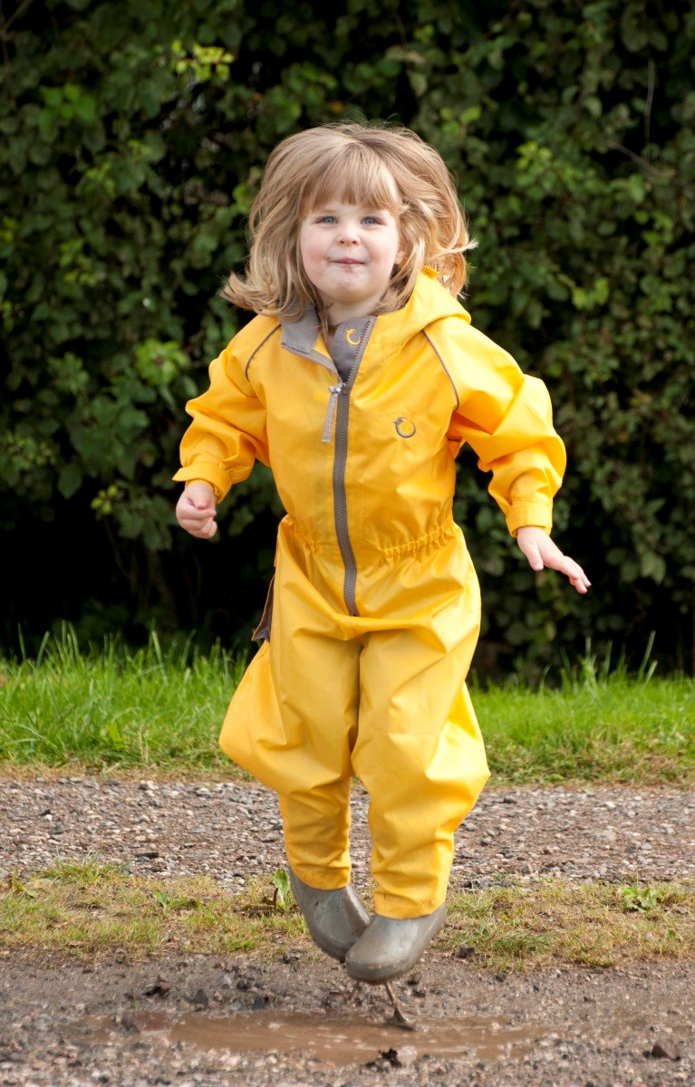 Hippychick Waterproofs - Fleece Lined All in One Suits Yellow