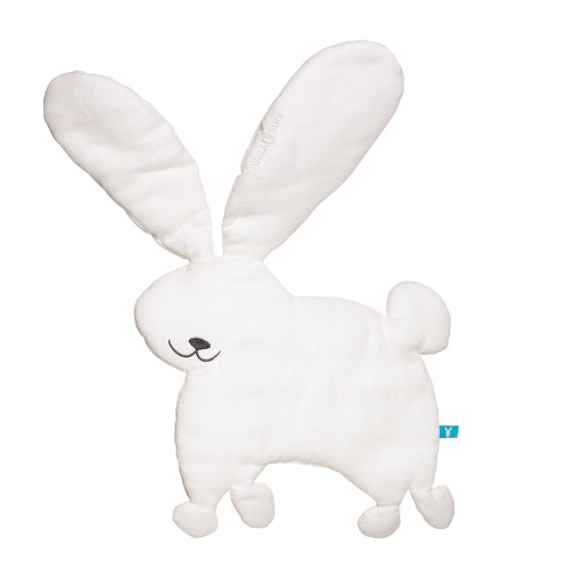 Wallaboo Cotton Animal Comforter - White Rabbit
