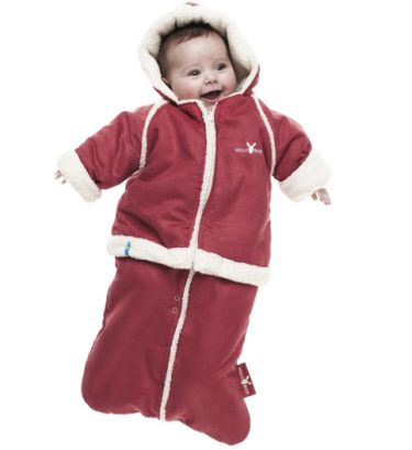 wallaboo baby overall winter suit red 6 12 mths loubilou. Black Bedroom Furniture Sets. Home Design Ideas