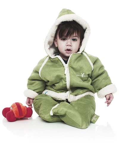 Wallaboo Baby Overall/Winter Suit - Lime (6-12 mths)