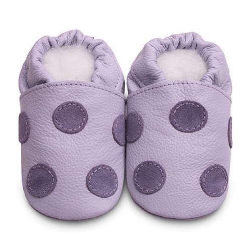 Hippychick Shoo Shoos - Lilac/Purple Dots