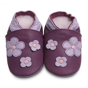 Hippychick Shoo Shoos - Purple Flowers