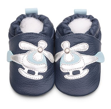 Hippychick Shoo Shoos - Navy/Silver Helicopter