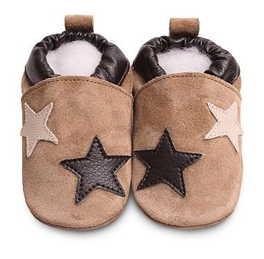 Hippychick Shoo Shoos - Sand Suede/2 Stars