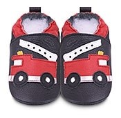 Hippychick Shoo Shoos - Black/Red Fire Engine