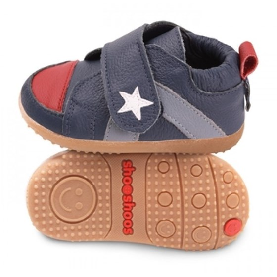 Hippychick Shoo Shoos Smileys -  Navy/Red Sport