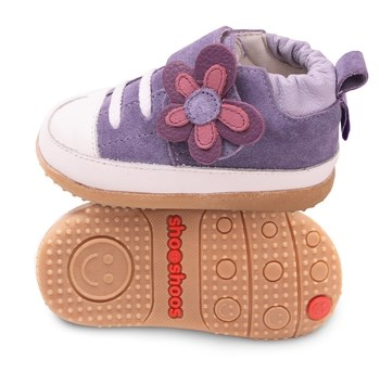 Hippychick Shoo Shoos Smileys -  Purple/White Flower