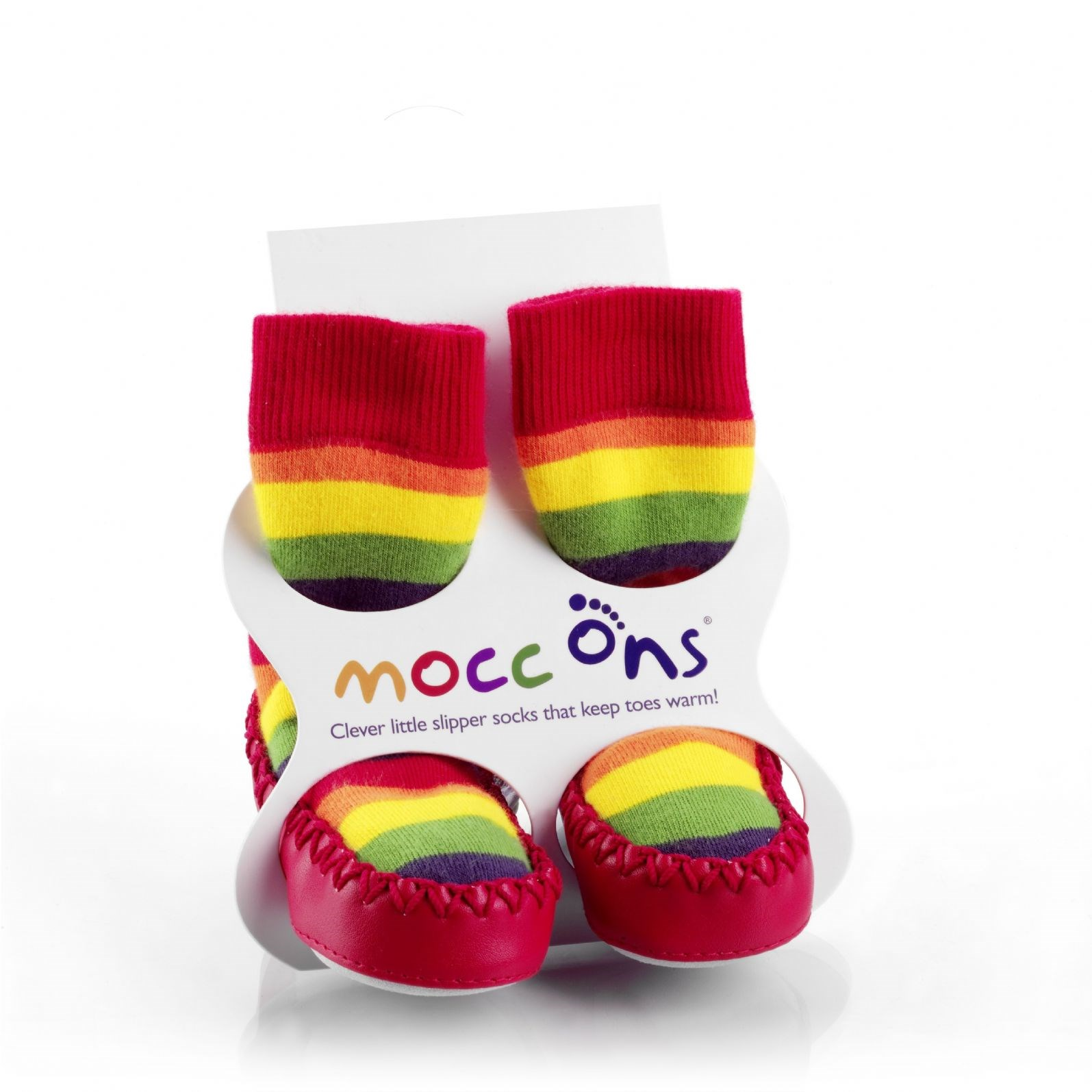 Mocc Ons - Rainbow Stripes