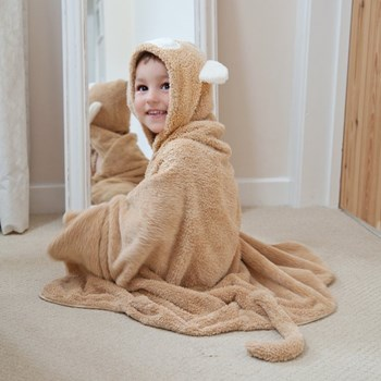 Cuddledry Toddler Towel - Snuggle Monkey