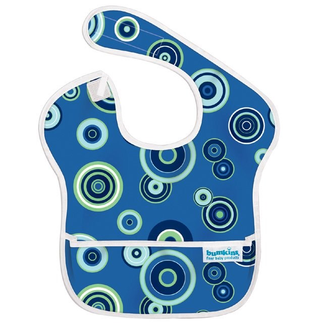 Bumkin Super Bibs - Dark Blue Circles