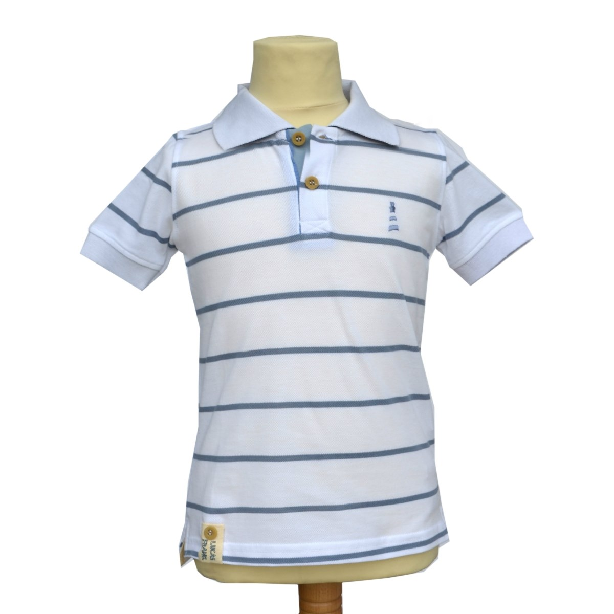 Lucas Frank Sandyhook Polo in White
