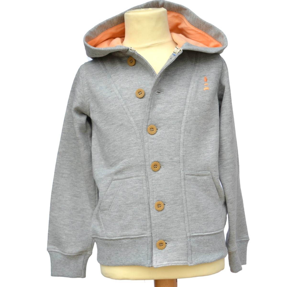 Lucas Frank Squirrel Point Hoodie in Grey