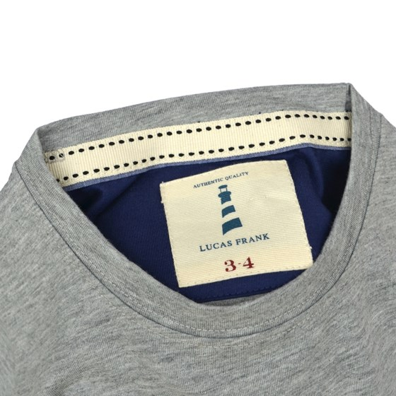 Lucas Frank Monkstone Tee in Grey