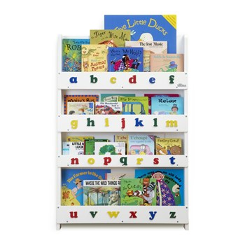 The Tidy Books® Children's Bookcase - Perfect book display & storage for children - White Lowercase
