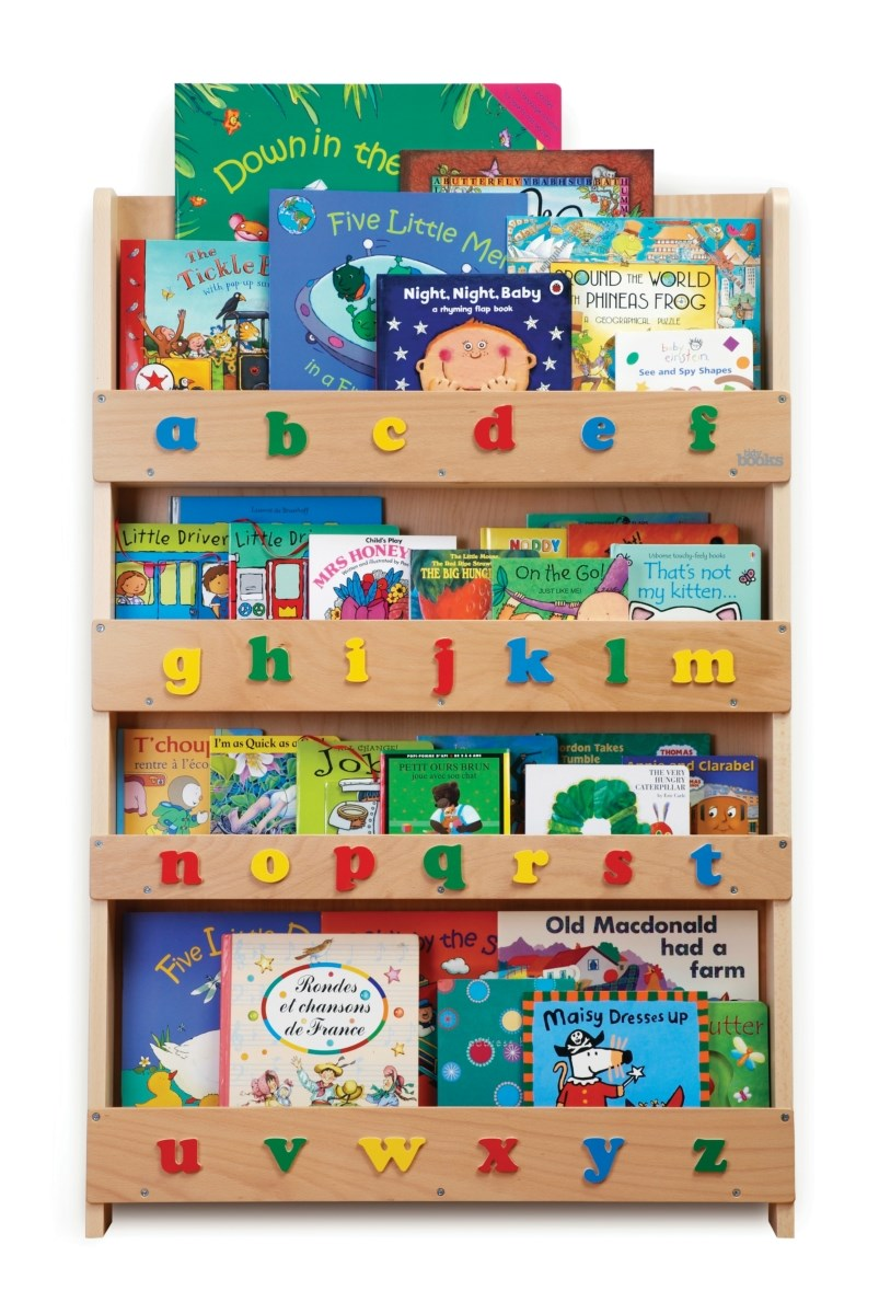 The Tidy Books Children's Bookcase - Perfect book display & storage for children - Natural Lowercase