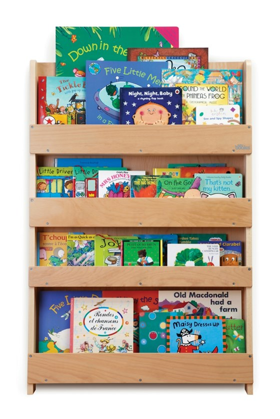 The Tidy Books Children's Bookcase - Perfect book display & storage for children - Natural No Letter