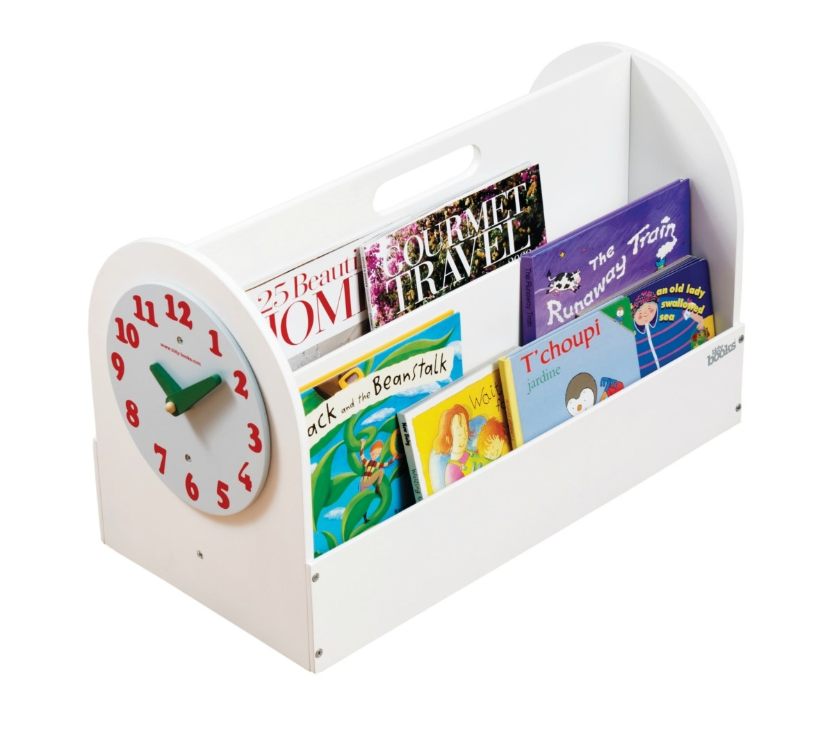 The Tidy Books® Box - Your Handy Book Box with a play clock - White
