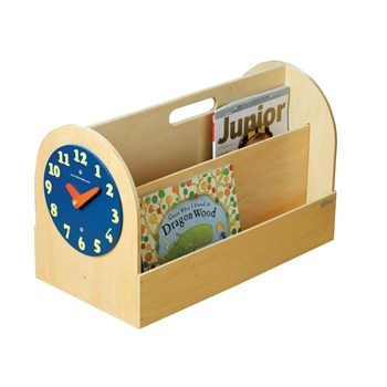 The Tidy Books® Box - Your Handy Book Box with a play clock - Natural