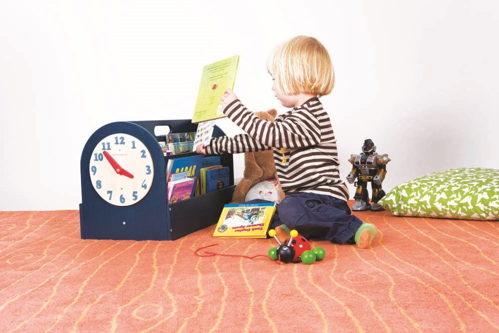 The Tidy Books® Box - Your Handy Book Box with a play clock - Blue