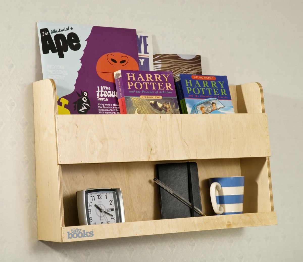 The Tidy Books® Bunk Bed Buddy™ - Your perfect bedside storage for bunk beds - Natural