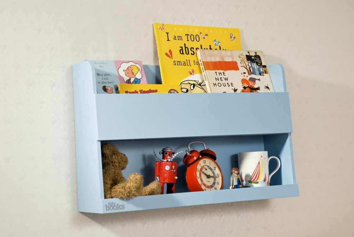 The Tidy Books® Bunk Bed Buddy™ - Your perfect bedside storage for bunk beds - Blue