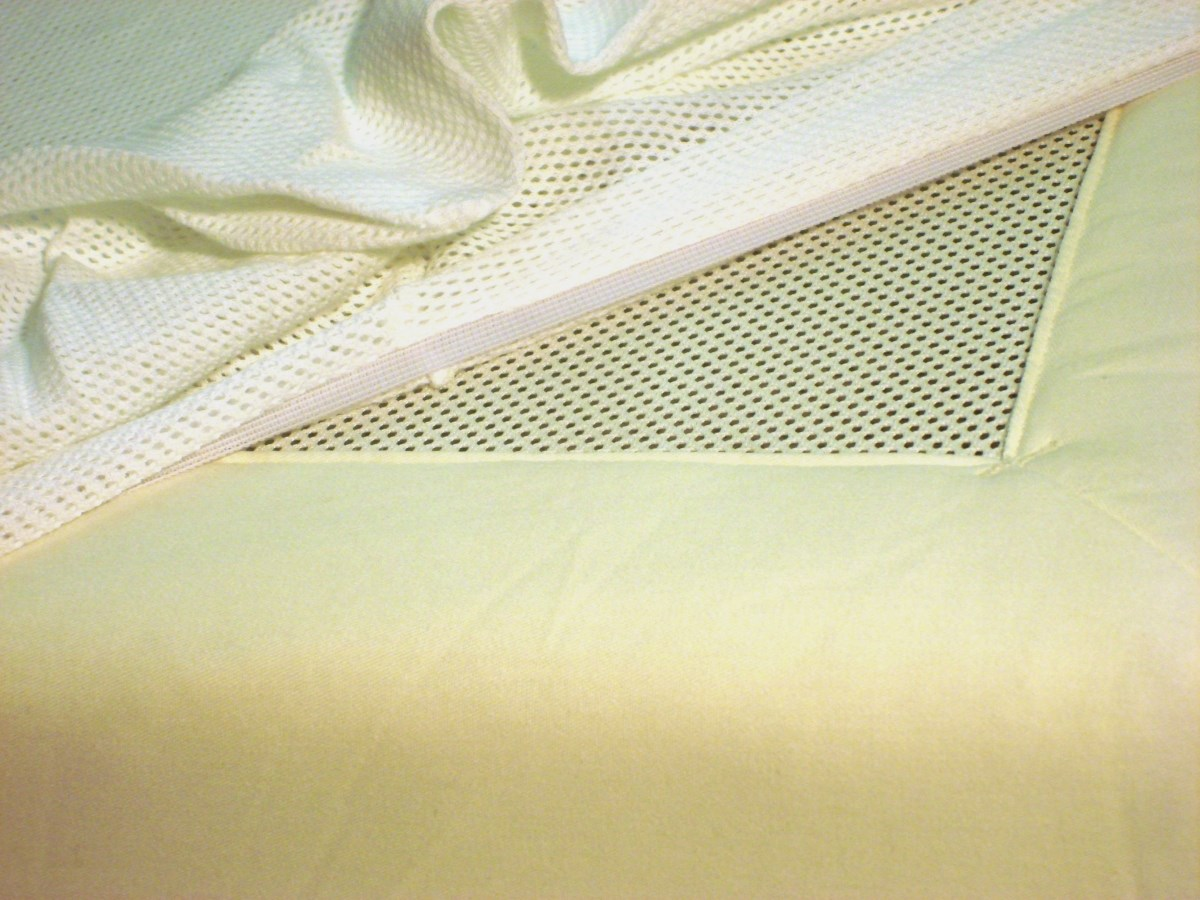 PurFlo Organic Cotton Fitted Sheet for Cot