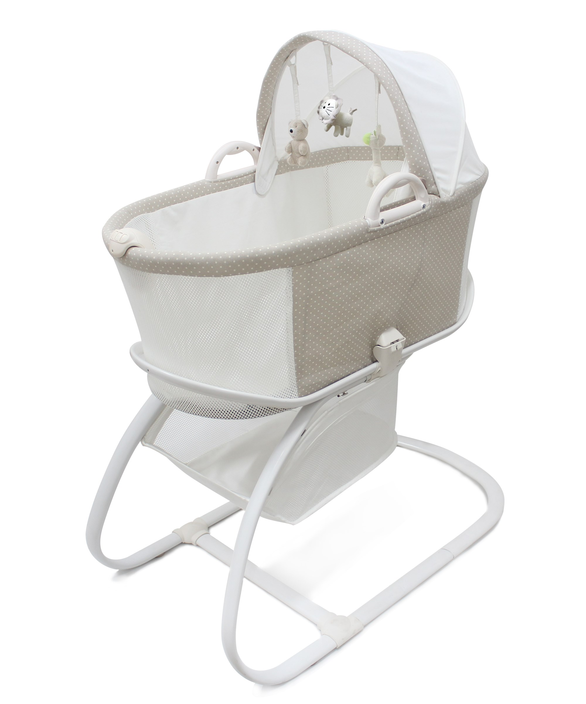 PurFlo Breathable Bassinet in Soft Truffle