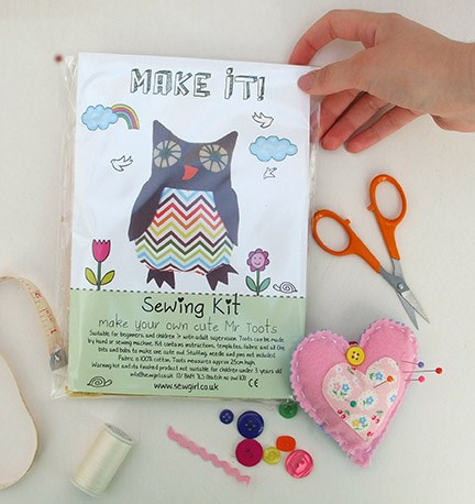Make your own Mr Toots sewing kit