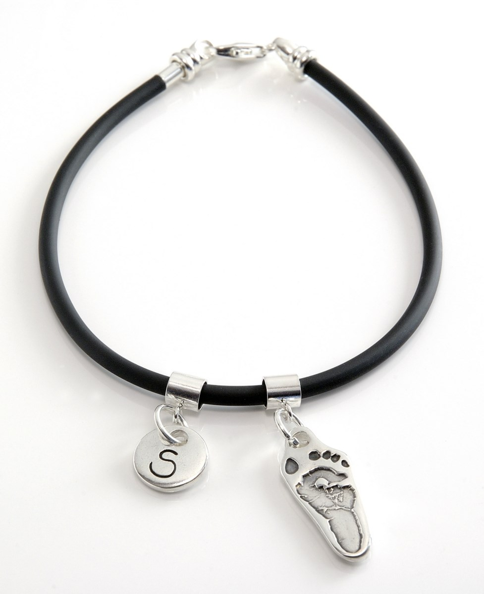 Hand or Foot Print Rubber Bangle