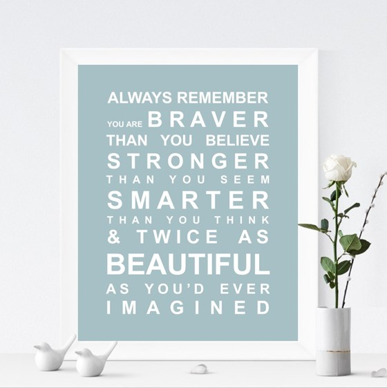 ALWAYS REMEMBER - YOU ARE BEAUTIFUL PRINT