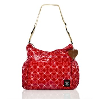 BABYMEL BIG SLOUCHY TWISTED RED BAG
