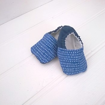 Blue Dash Baby Shoes