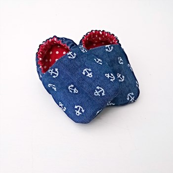 'Anchors Away' Baby Shoes