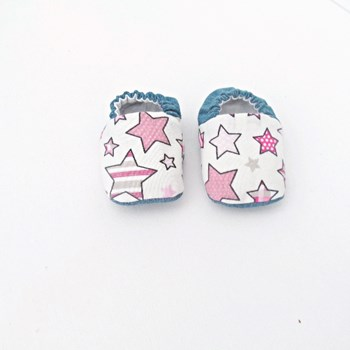 Pink Star Soft Soled Baby Shoes