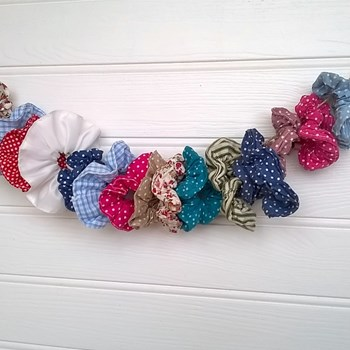 Hair Scrunchies - Set of 5