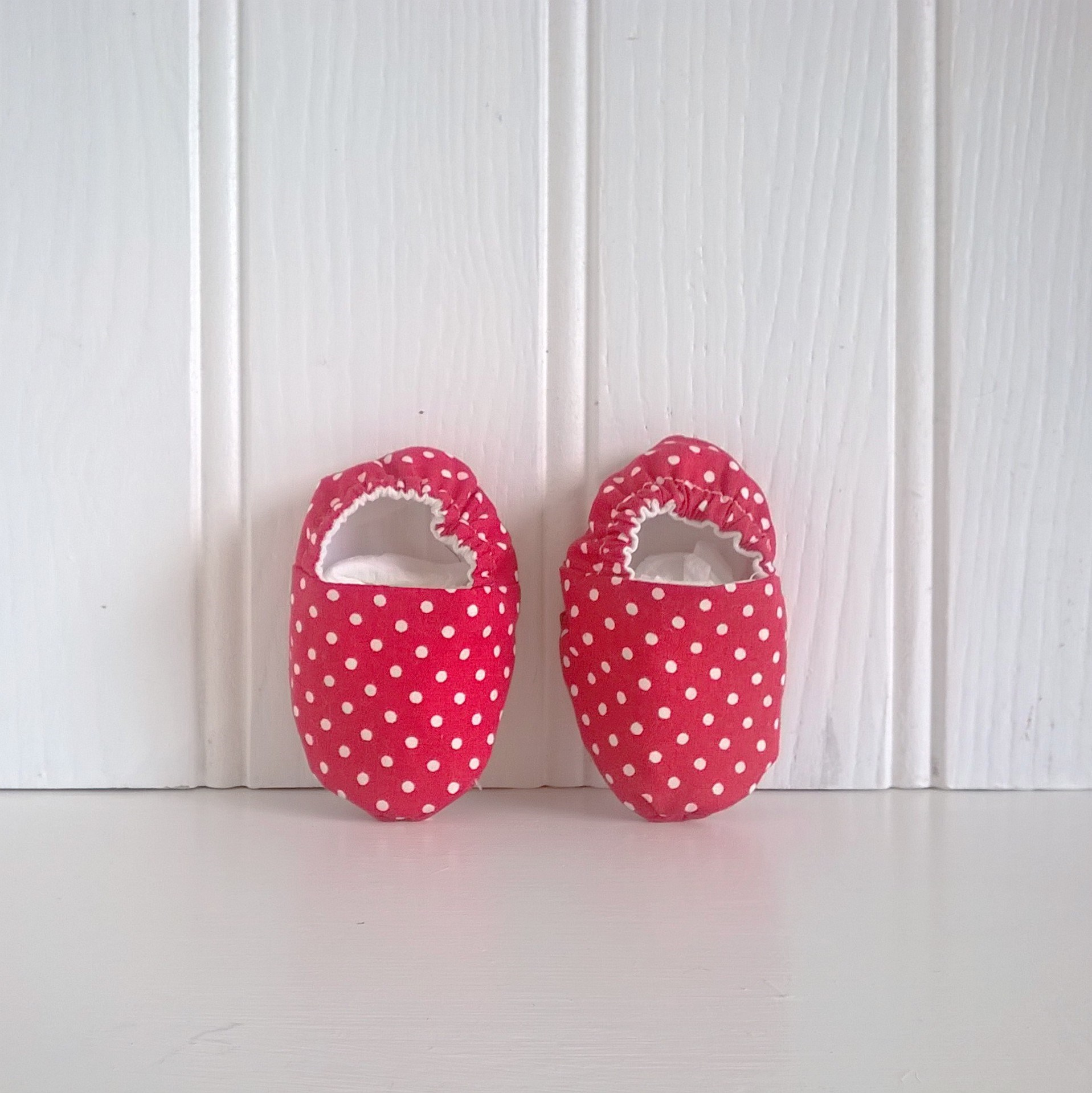 Red Spot Baby Shoes