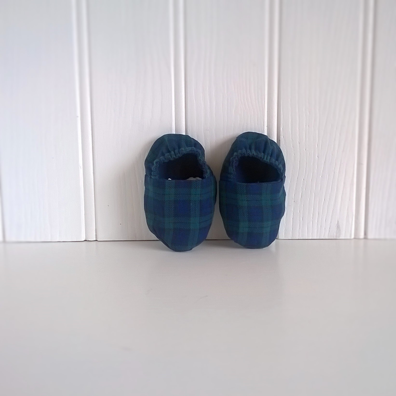 Soft Soled Tartan Baby Shoes