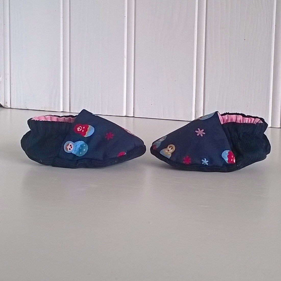 Russian Doll Baby Shoes With Pink Lining