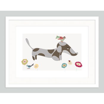 Sausage Dog Art | Dachshund | Wiener Puppy | Whimsical Joyful