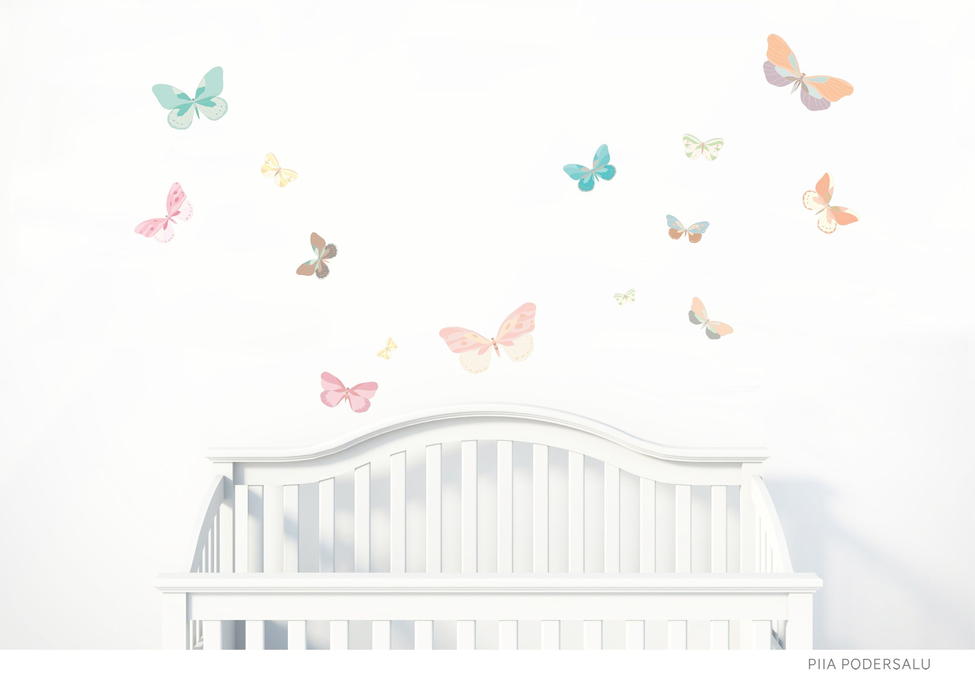 Butterfly Fabric Wall Decals