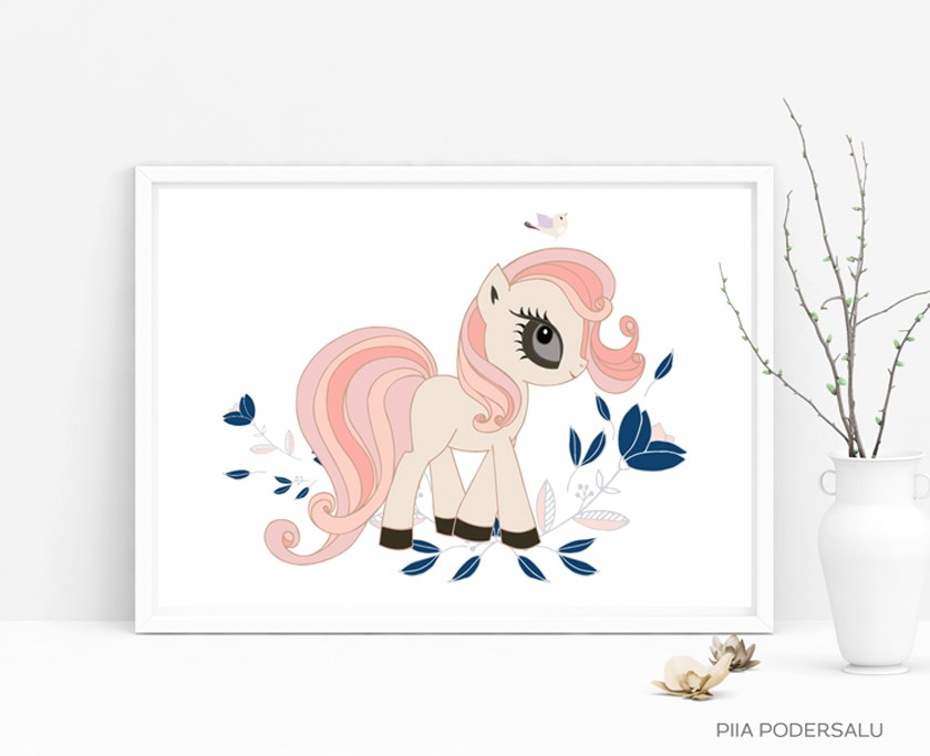 Little Pony Nursery Art