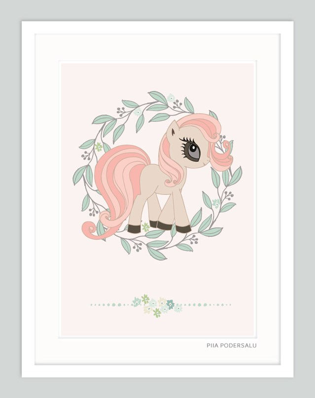 Little Pony Art Print