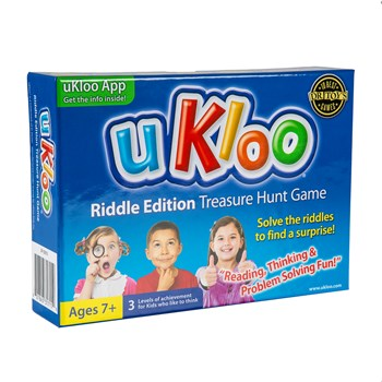uKloo Riddle Edition Treasure Hunt Game! An active game to get kids moving, reading and thinking!