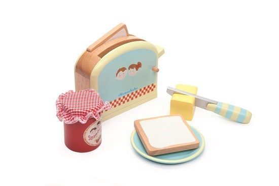 Honeybake Toaster Set play food by Le Toy Van