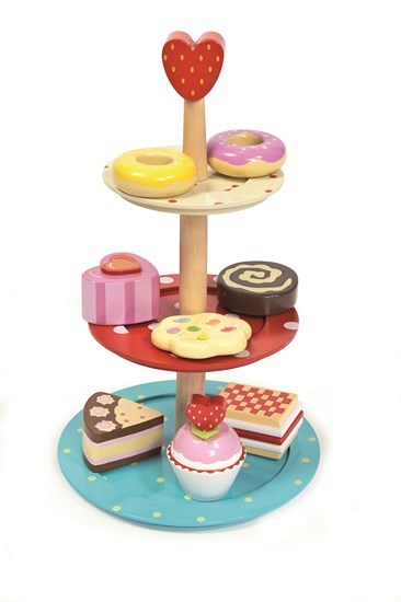 Honeybake Cake Stand Set play food by Le Toy Van