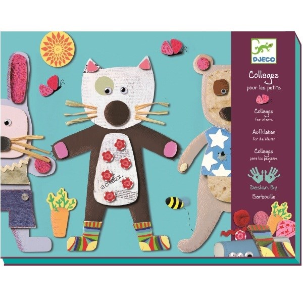 Djeco Art for Kids Collage Set for Little Ones