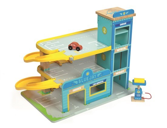 Bluejay Wooden Toy Garage by Le Toy Van