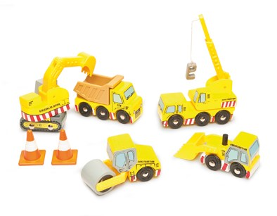 Construction Set - wooden vehicles by Le Toy Van